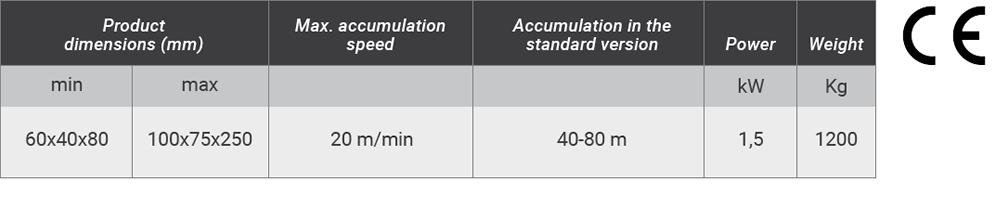 Vertical product accumulator